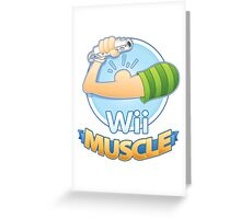 Wii Muscle Greeting Card