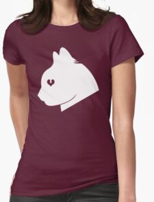 Cat Love (White) Womens Fitted T-Shirt