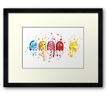 PacMan Watercolor Framed Print