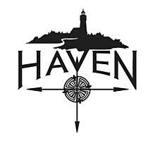 Haven Black Logo Photographic Print