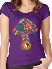 Psychedelic Mushroom Women's Fitted Scoop T-Shirt