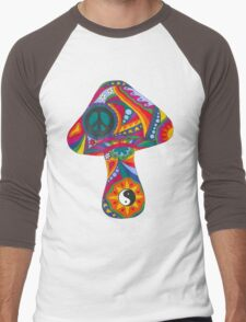 Psychedelic Mushroom Men's Baseball ¾ T-Shirt