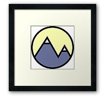 Mountains & Yellow Framed Print