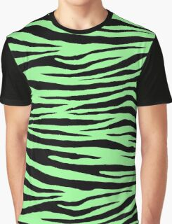 0494 Pale Green Tiger Graphic T-Shirt
