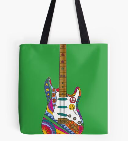Psychedelic Guitar Tote Bag
