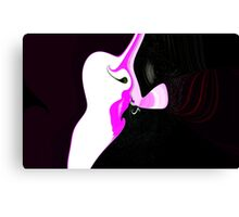 Blowing Kisses to Pinkie Canvas Print