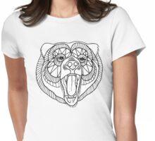 Geo Bear Womens Fitted T-Shirt