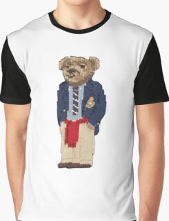 Polo Bear: Knit in Blazer w/ Red Sweater Graphic T-Shirt