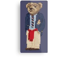 Polo Bear: Knit in Blazer w/ Red Sweater Metal Print