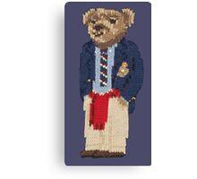 Polo Bear: Knit in Blazer w/ Red Sweater Canvas Print