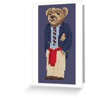 Polo Bear: Knit in Blazer w/ Red Sweater Greeting Card