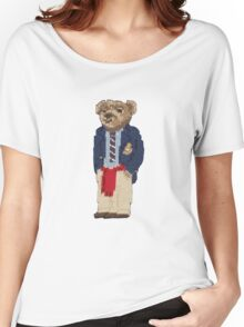 Polo Bear: Knit in Blazer w/ Red Sweater Women's Relaxed Fit T-Shirt