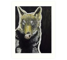 Big Bad Wolf Illustration Art Print