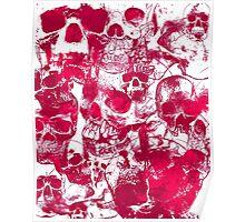 Pink Skulls Poster