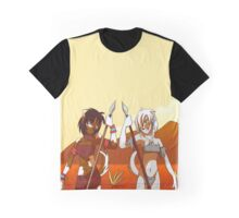 Dog Girl and Wolf Girl Graphic T-Shirt