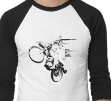 Dirt Bike Wheelie Men's Baseball ¾ T-Shirt