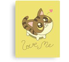 Love Me Cat Canvas Print