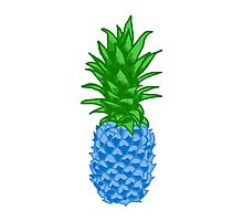Blue Pineapple Photographic Print