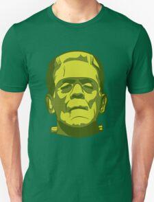 Frankenstein T-shirt Halloween Scary Green Face T-Shirt