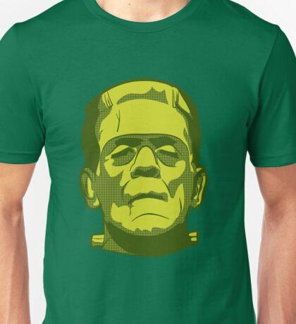 Frankenstein T-shirt Halloween Scary Green Face Unisex T-Shirt