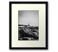 Tynemouth Pier and Lighthouse from the Haven Framed Print