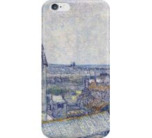 Vincent Van Gogh - View From The Artist s Window Rue Lapic  iPhone Case/Skin