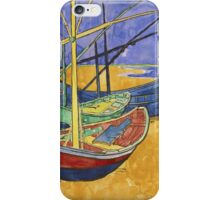 Vincent Van Gogh - Fishing In The Spring. Pont De Clichy  iPhone Case/Skin