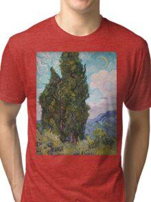 Vincent Van Gogh - Cypresses .  Van Gogh - Cypresses  Tri-blend T-Shirt