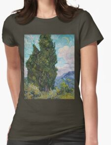 Vincent Van Gogh - Cypresses .  Van Gogh - Cypresses  Womens Fitted T-Shirt