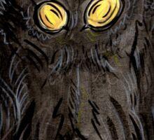Mothman Ink Portrait II Sticker