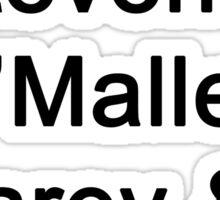 Greys Anatomy Original Character Surnames Sticker