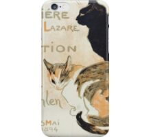 Theophile Alexandre Steinlen - A La Bodiniere iPhone Case/Skin
