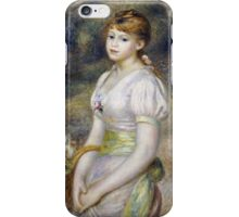 Renoir Auguste - Young Girl With A Basket Of Flowers iPhone Case/Skin