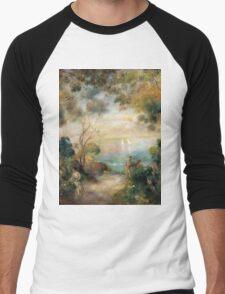 Renoir Auguste - A Garden In Sorrento Men's Baseball ¾ T-Shirt