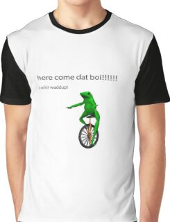 Here Come Dat Boi - LARGE Graphic T-Shirt