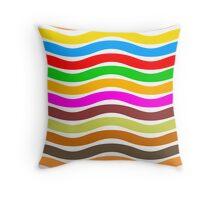 Wavy Stripes Love Throw Pillow