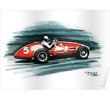 1953 Ferrari 500 F2 Poster