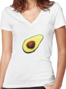 Cool Avocado Women's Fitted V-Neck T-Shirt