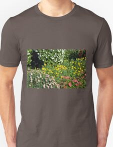 Many beautiful colorful flowers in the park. T-Shirt