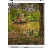 Cottage on the water in spring iPad Case/Skin