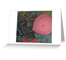 Zombies Love Bubble Gum Greeting Card