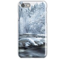 Wintry river rapids iPhone Case/Skin