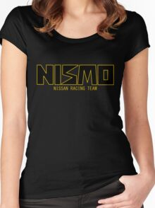 Classic Gold and Black NISMO Nissan Racing Team Logo Women's Fitted Scoop T-Shirt