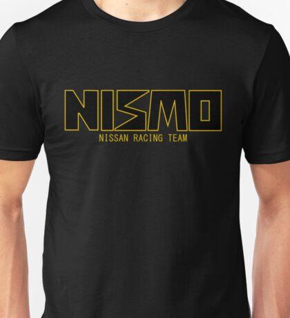 Classic Gold and Black NISMO Nissan Racing Team Logo Unisex T-Shirt