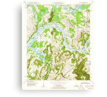 USGS TOPO Map Alabama AL Triana 305234 1948 24000 Canvas Print