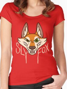 Sly Fox - Light Text Women's Fitted Scoop T-Shirt