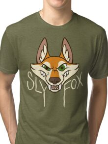 Sly Fox - Light Text Tri-blend T-Shirt
