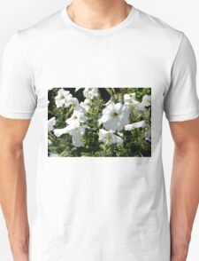 White flowers in the garden, natural background. T-Shirt