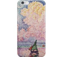 Paul Signac - Pink Clouds Antibes iPhone Case/Skin