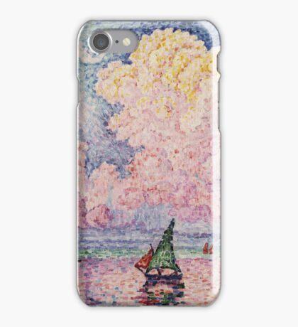 Paul Signac - Pink Clouds Antibes iPhone Case/Skin